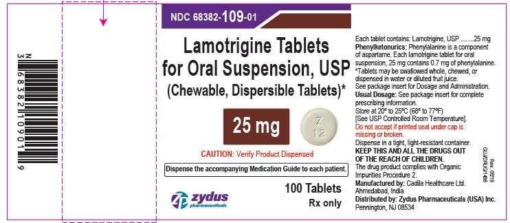 Lamotrigine Tablets (Chewable, Dispersible), 25 mg