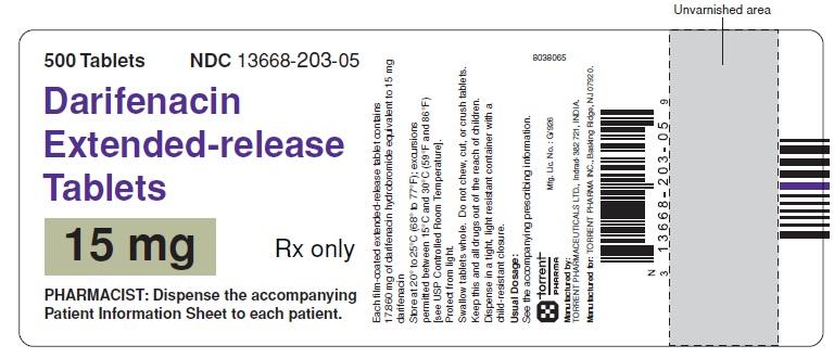 15 mg: Bottle of 500 Tablets