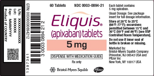 eliquis 5 mg x 60s bottle