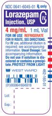 Lorazepam Injection, USP CIV 4 mg/mL 1 mL Vial