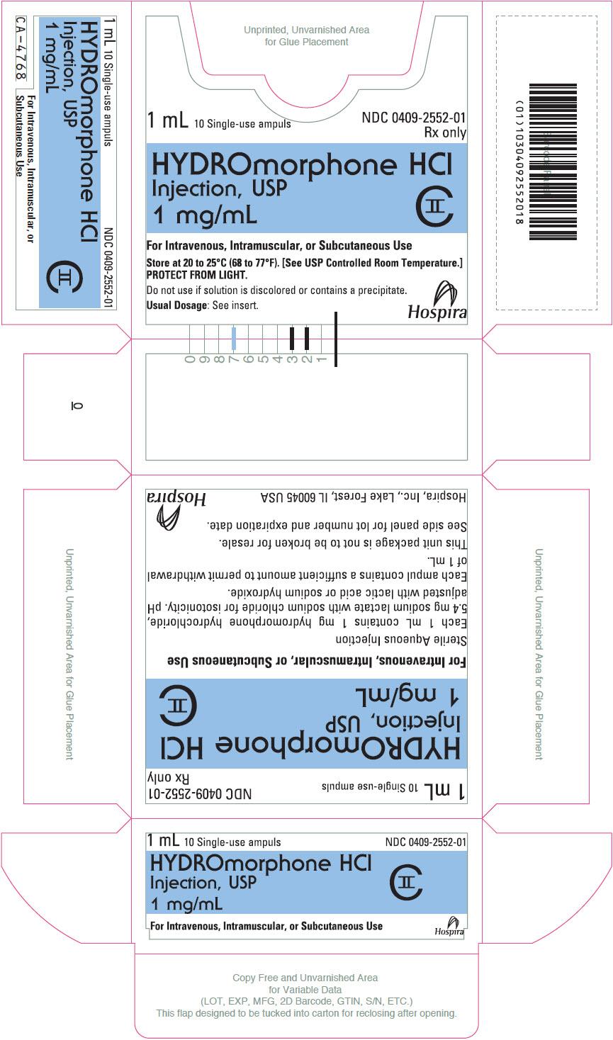 PRINCIPAL DISPLAY PANEL - 1 mg/mL Ampule Box