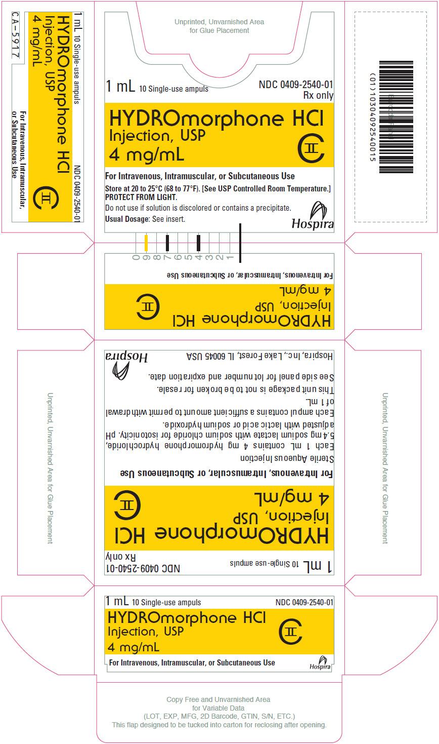 PRINCIPAL DISPLAY PANEL - 4 mg/mL Ampule Box