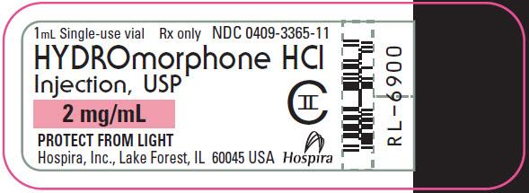 PRINCIPAL DISPLAY PANEL - 2 mg/mL Vial Label
