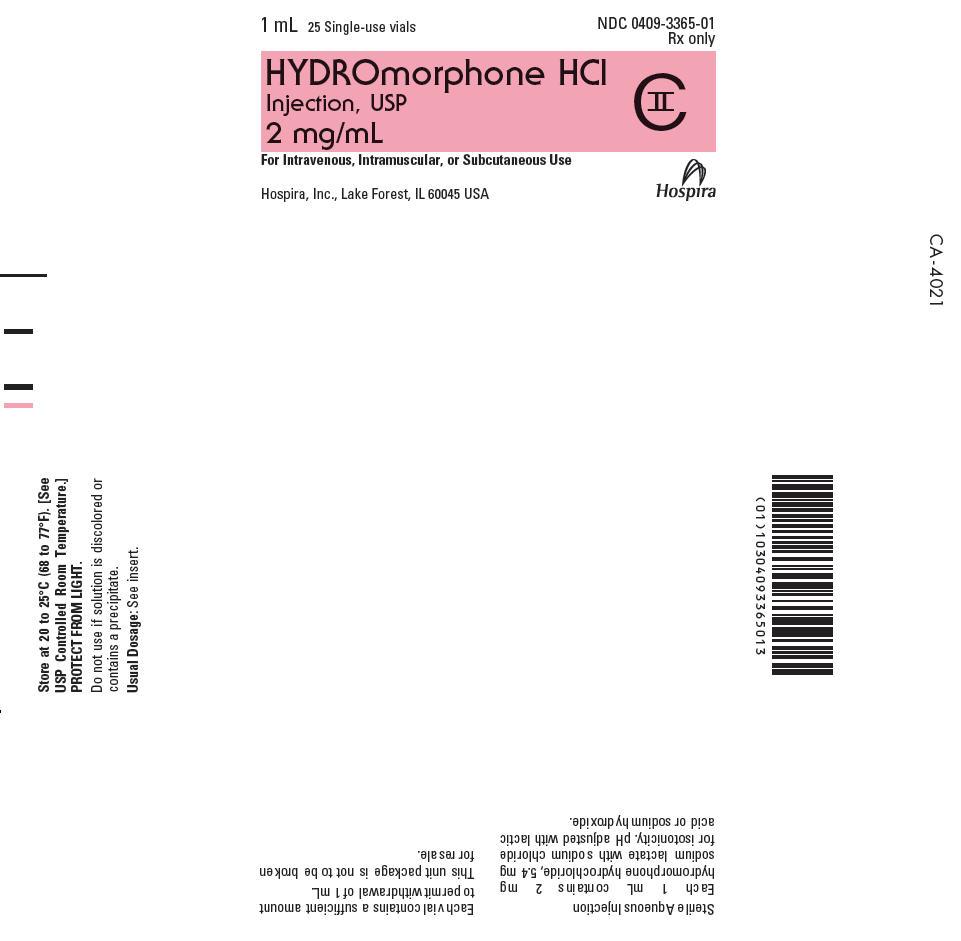 PRINCIPAL DISPLAY PANEL - 2 mg/mL Vial Tray