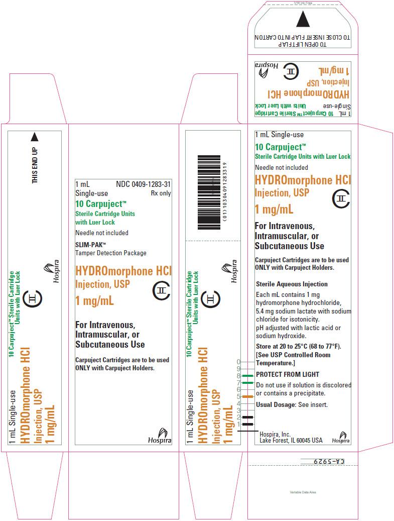 PRINCIPAL DISPLAY PANEL - 1 mg/mL Cartridge Box