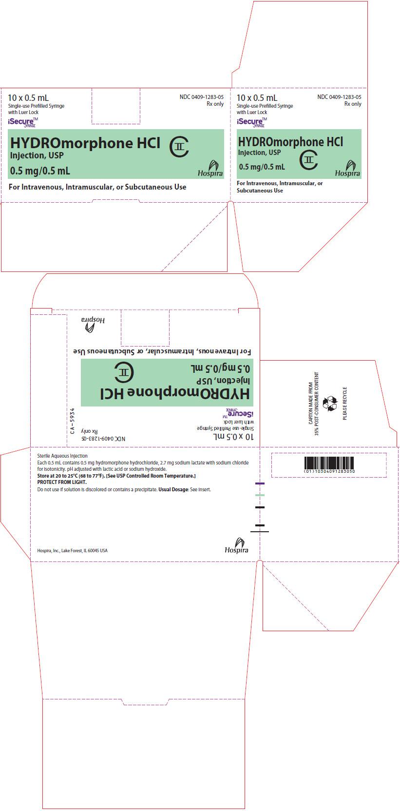 PRINCIPAL DISPLAY PANEL - 0.5 mL Syringe Box