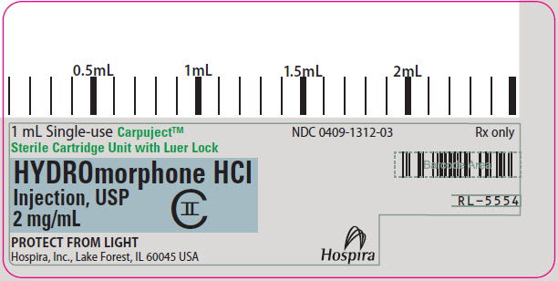 PRINCIPAL DISPLAY PANEL - 2 mg/mL Cartridge Label