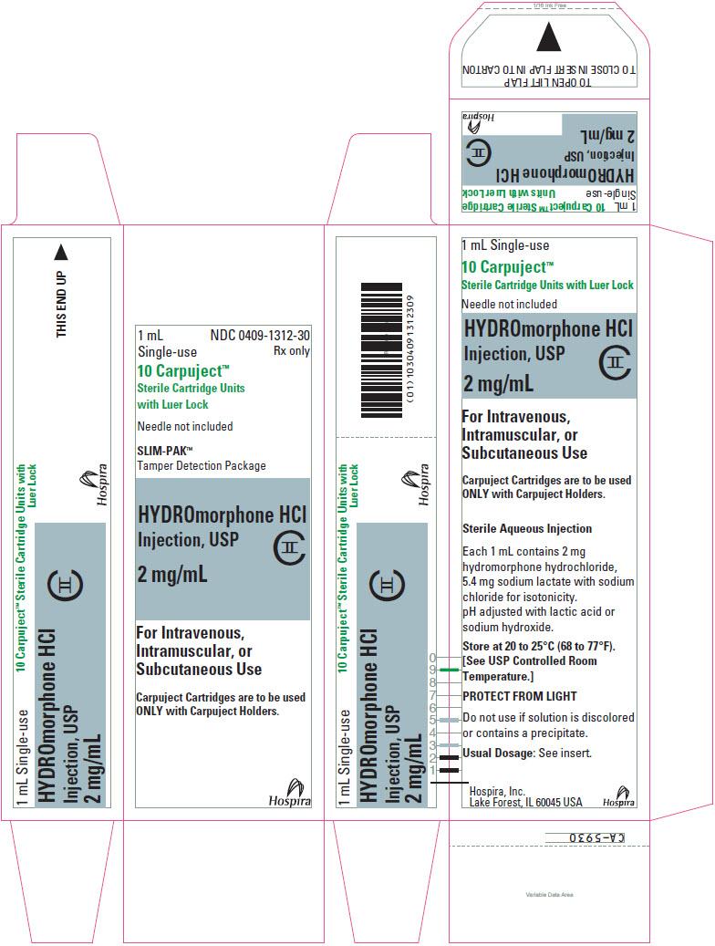 PRINCIPAL DISPLAY PANEL - 2 mg/mL Cartridge Box