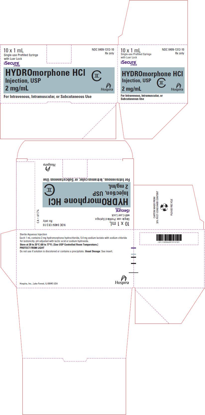 PRINCIPAL DISPLAY PANEL - 2 mg/mL Syringe Box