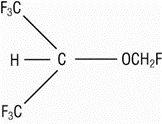 Sevoflurane structural formula