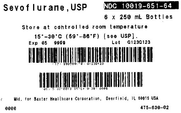 Sevoflurane, USP representative carton label