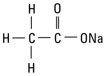 structural formula sodium acetate usp