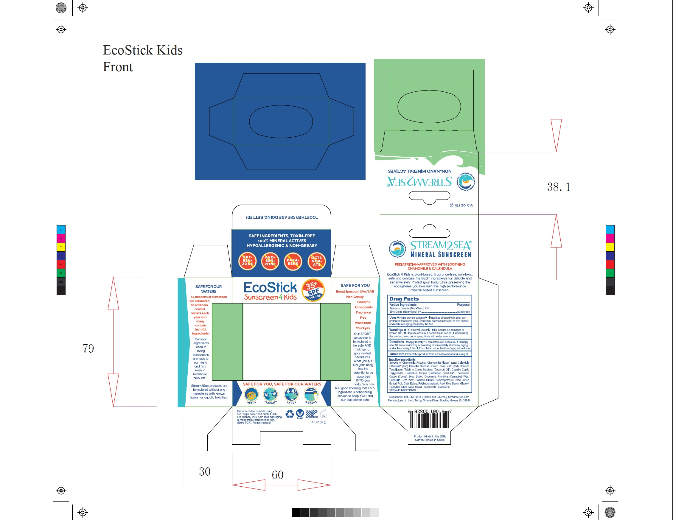 EcoStick Sport Screenscreen 4 Kids Carton Label