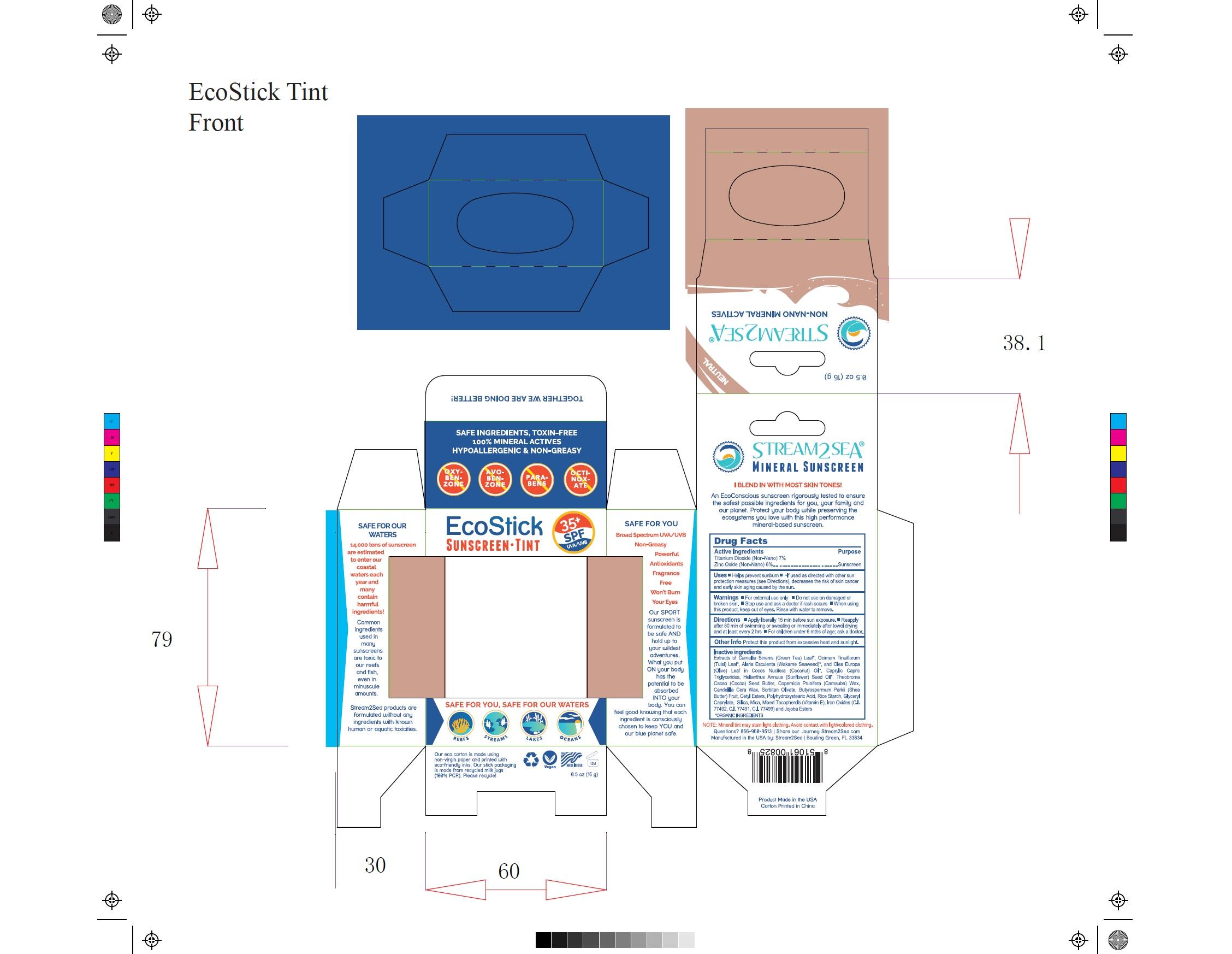 EcoStick Sport Screenscreen Tint Carton Label