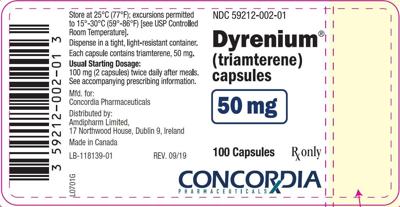 dyrenium-50mg-label