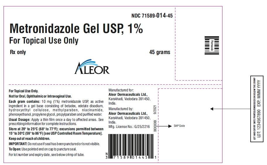 45 g tube label