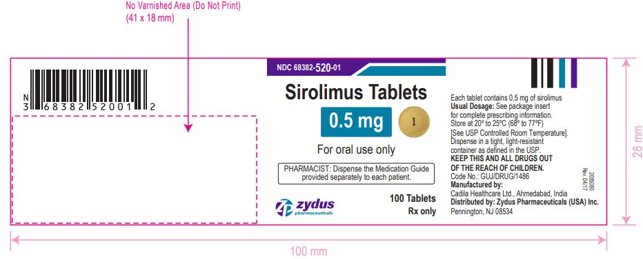 Sirolimus Tablets,  0.5 mg