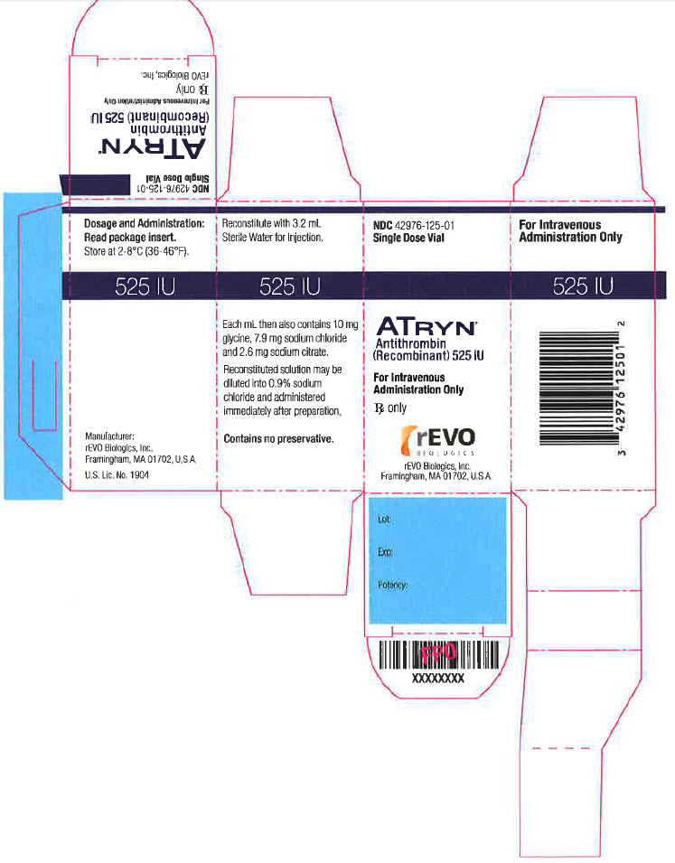 NDC: <a href=/NDC/42976-125-01>42976-125-01</a> Single Dose Vial ATRYN Antithrombin (Recombinant) 525 IU For Intravenous Administration Only Rx only