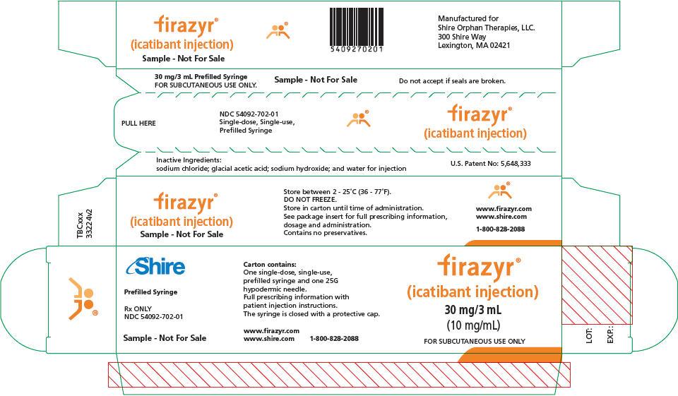 PRINCIPAL DISPLAY PANEL - 30 mg/3 mL Syringe Carton