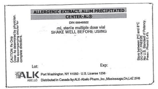 Allergenic Extract, Alum Precipitated Center-AL® ALK ABELLO
