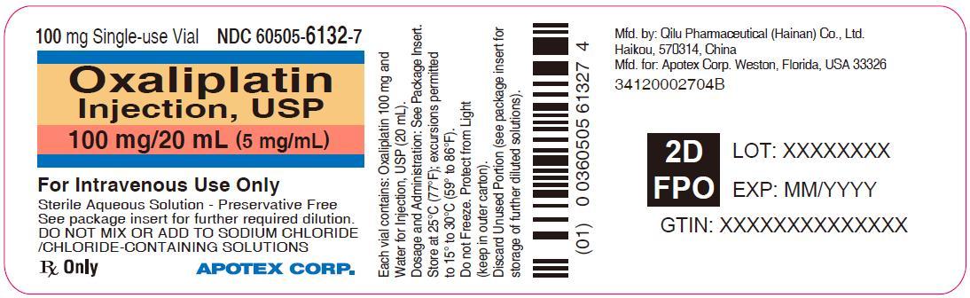 Principal Display Panel - 100 mg/20 mL Vial