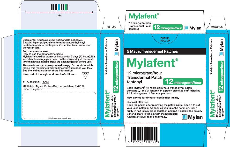 12 microgram/hour Carton Label - UK