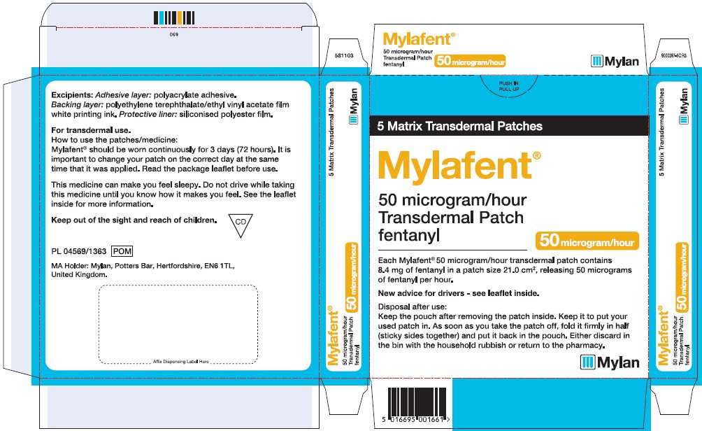 50 microgram/hour Carton Label - UK