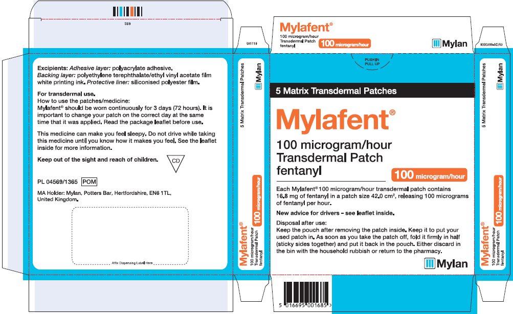 100 microgram/hour Carton Label - UK