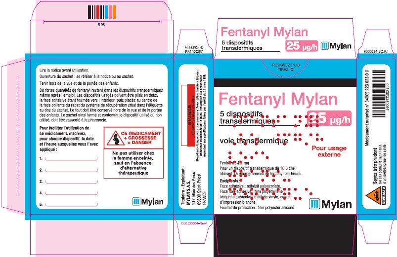 25 microgram/hour Carton Label - France