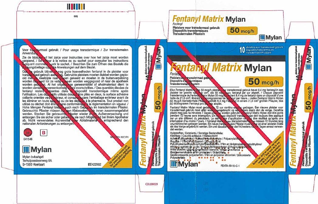 50 microgram/hour Carton Label - Belgium