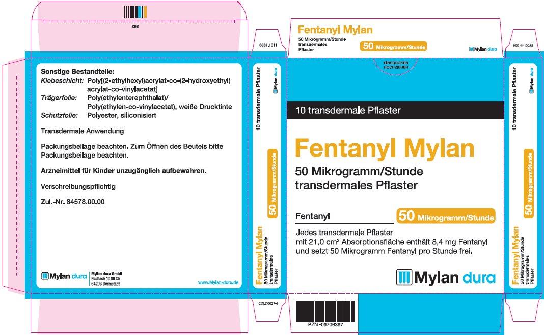 50 microgram/hour Carton Label - Germany