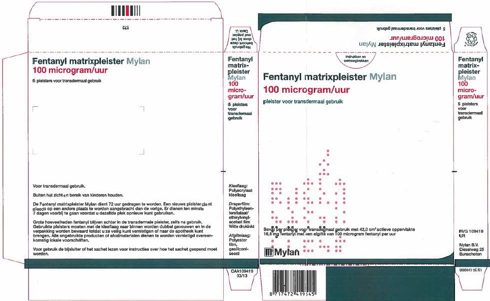 100 microgram/hour Carton Label - Netherlands