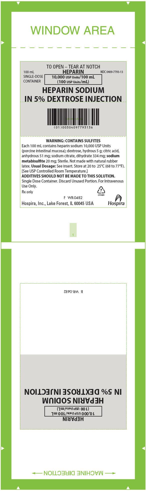 PRINCIPAL DISPLAY PANEL - 100 mL Bag Label - WR-0482