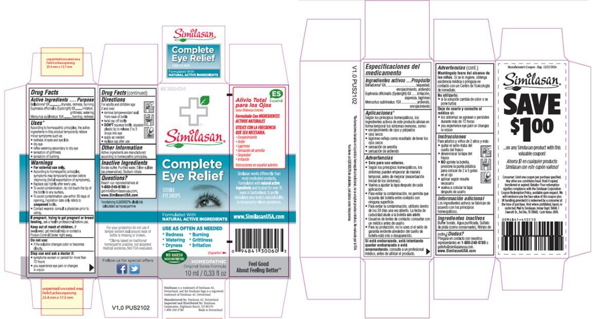 PRINCIPAL DISPLAY PANEL NDC: <a href=/NDC/59262-373-11>59262-373-11</a> Complete Eye Relief STERILE EYE DROPS 10 ml/ 0.33 fl oz