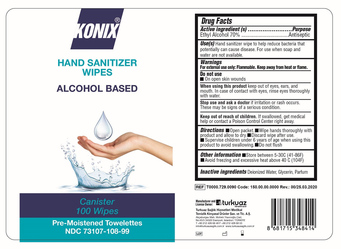 Konix 100 wipes canister