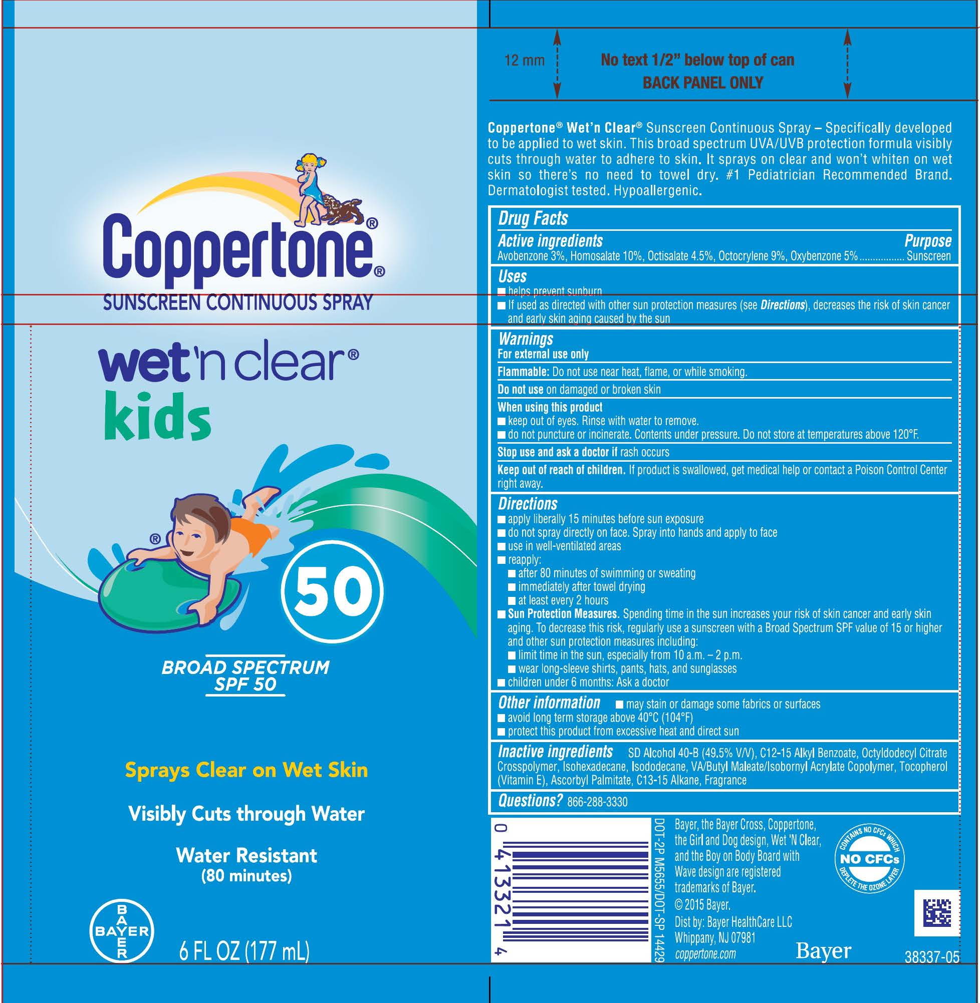 Wet and Clear Kids SPF 50 carton