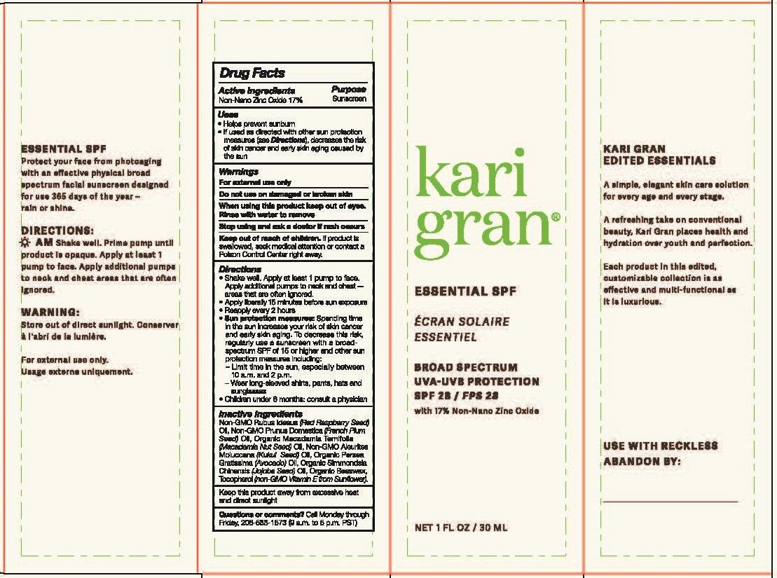 Kari Gran SPF 30mL Box Dielines