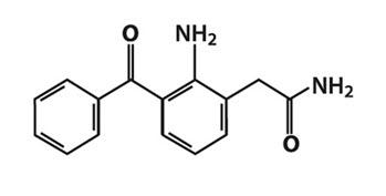 structural formula of nepafenac