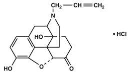 Naloxone Hydrochloride Structural Formula