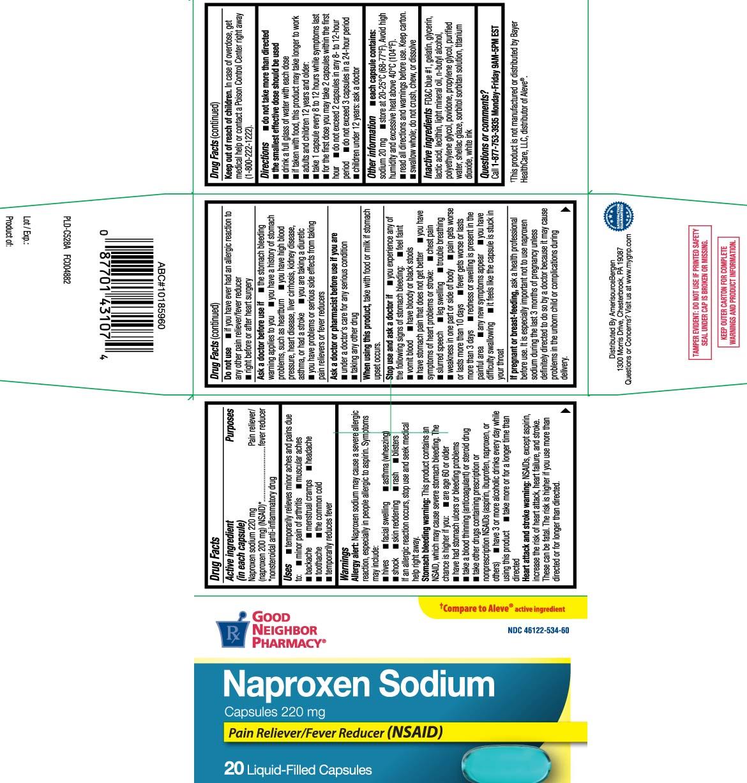 Naproxen sodium 220 mg (naproxen 200 mg) (NSAID)* *nonsteroidal anti-inflammatory drug