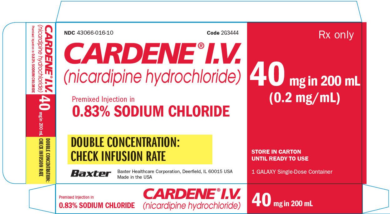 Cardene Representative Carton Label 1 of 2