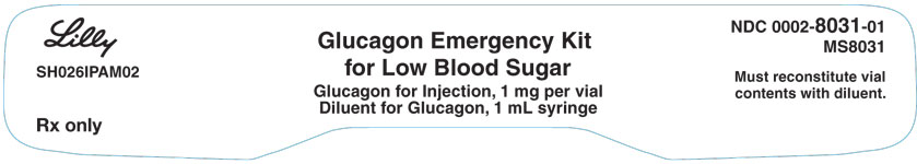 PACKAGE LABEL – Glucagon 1 mg Emergency Kit 1ct