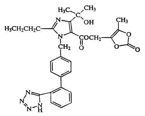 Structural formula for olmesartan medoxomil