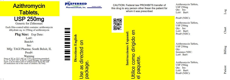 Azithromycin Tablet USP 250mg
