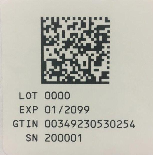 5 mL Serialization Label (25 pack)
