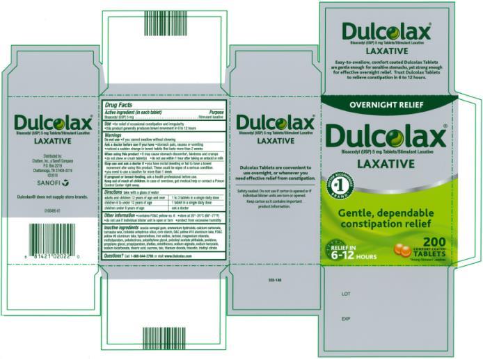 PRINCIPAL DISPLAY PANEL Dulcolax LAXATIVE 200 TABLETS