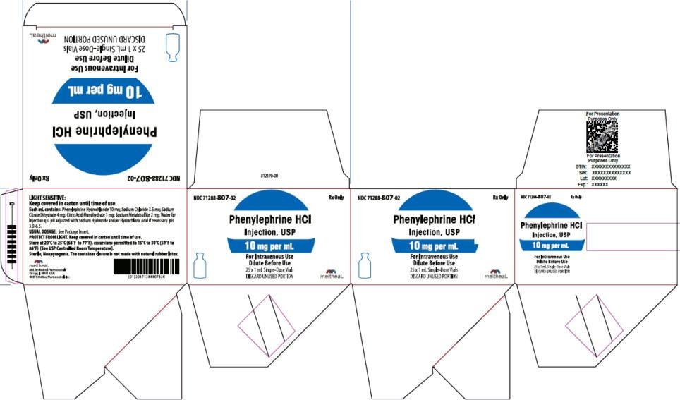 Principal Display Panel – Phenylephrine HCl Injection, USP 10 mg per mL Carton