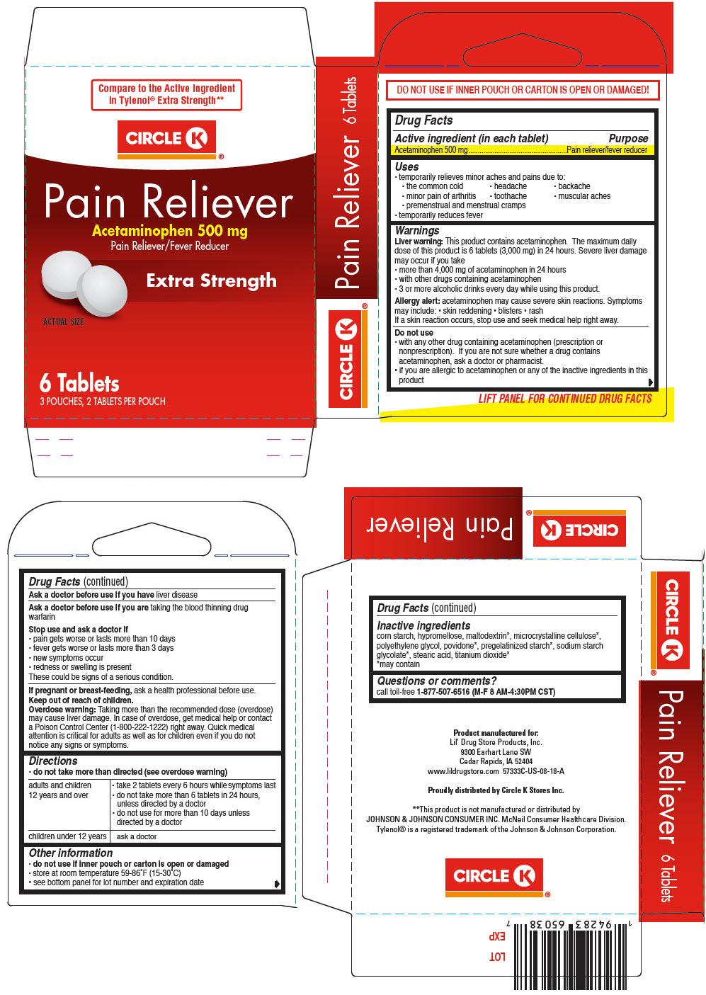 PRINCIPAL DISPLAY PANEL - 500 mg Tablet Pouch Carton - 66715-5733