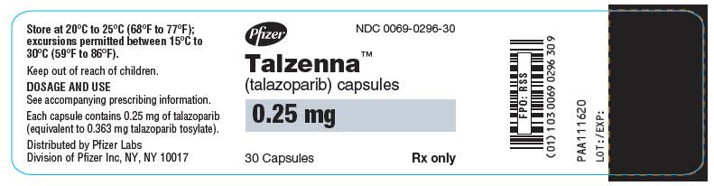 PRINCIPAL DISPLAY PANEL - 0.25 mg Capsule Bottle Label