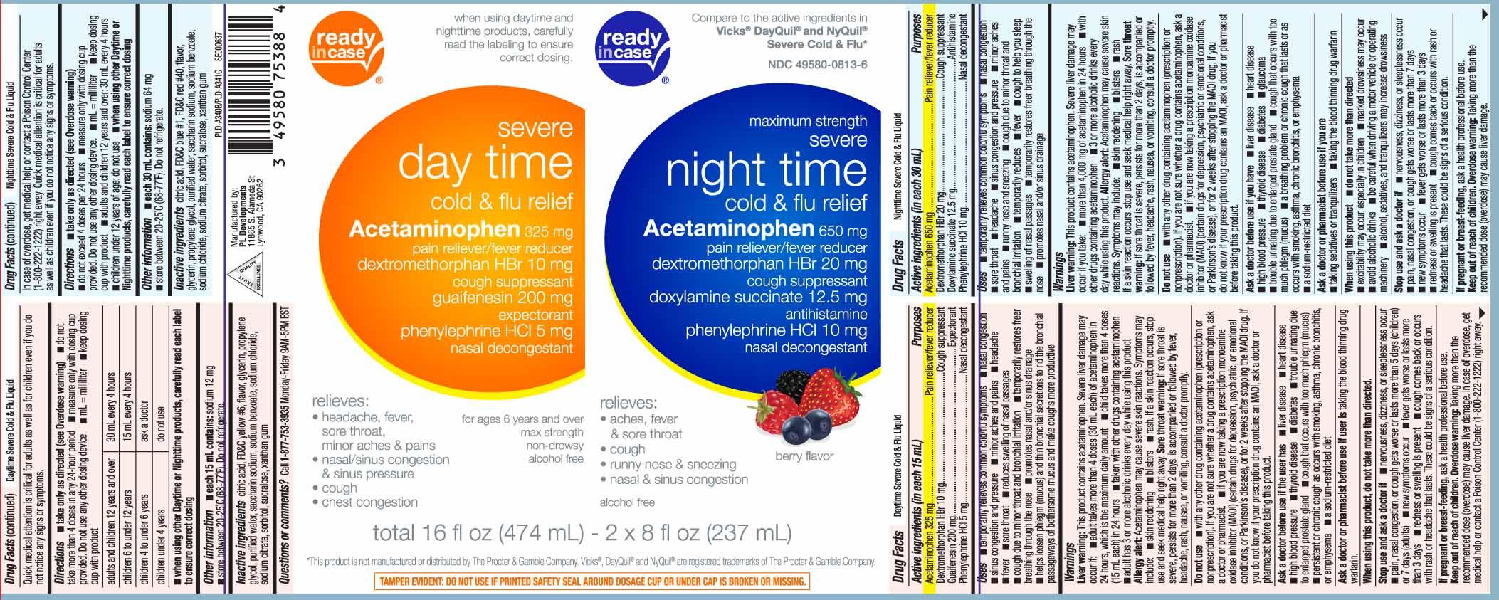 Acetaminophen 325 mg, Dextromethorphan HBr 10 mg, Guaifenesin 200 mg, Phenylephrine HCl 5 mg, Acetaminophen 650 mg, Dextromethorphan HBr 20 mg, Doxylamine Succinate 12.5 mg, Phenylephrine HCl 10 mg